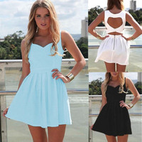 Heart Back Mini Dress