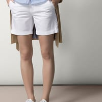 WHITE BERMUDA SHORTS - Trousers & Denim - WOMEN - España (Excepto Canarias)/Spain (except the Canary Islands)