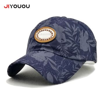 Tropical Print Cotton Cap