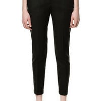 COTTON TROUSERS WITH TURN - UP HEM - Stock clearance - Woman - Sale | ZARA United States
