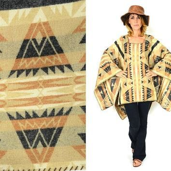 authentic RALPH LAUREN desert southwestern desert BLANKET poncho cape, one size fits a