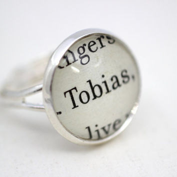 Divergent 'Tobias' Book Page Ring by PrettyLittleCharmsUK on Etsy