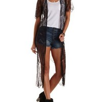 Eyelash Lace Duster Kimono by Charlotte Russe
