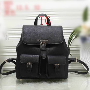 """Michael Kors"" Casual Simple Fashion Drawstring Backpack MK Women Large Capacity Double Shoulders Bag"