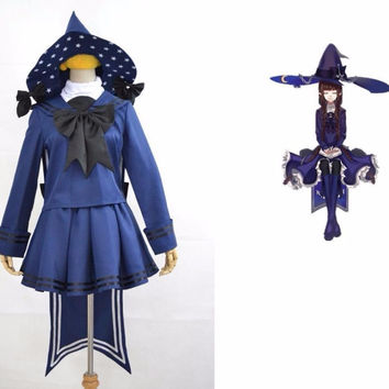 Anime Wadanohara blue witch sailor uniform Cosplay Costume customized any size