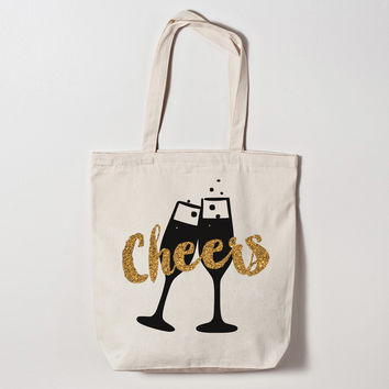 Cheers Champagne Tote Bag