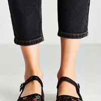 Satin Patterned Mary Jane Flat - Urban Outfitters