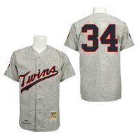 Minnesota Twins Kirby Pucket #34 Alternate Home Throwback Jersey