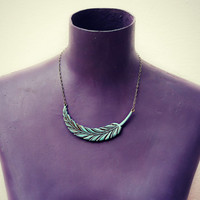 grand vintage feather necklace