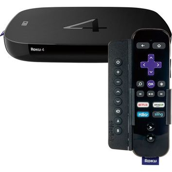 Roku 4 Streaming Media Player and Sideclick Universal Remote for Roku