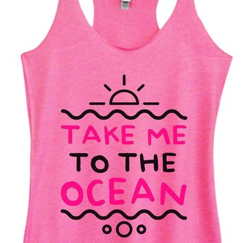 Womens Tri-Blend Tank Top - Take Me To The Ocean