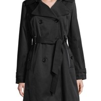 Via Spiga - Double-Breasted Notch Collar Trench Coat