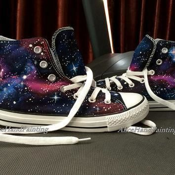unique galaxy converse custom hand painted shoes custom galaxy all star custom painted