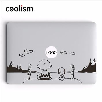 Peanuts Cartoon Laptop Decal for MacBook Air Vinyl Sticker Pro Retina Mac 11 12 13 15 inch Mac HP Dell Mi Notebook Skin Sticker