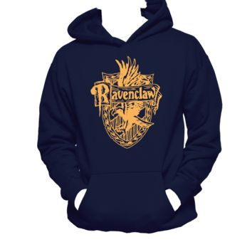 Ravenclaw House Crest Unisex Hoodie,Harry Potter, Eagle, Nerd Girl Tees,Geek Chic T-Shirt