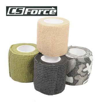 CS Force 4.5M 1 Roll Tapes Stretchable Army Bandage Gun Camera Telescope Wrap Shooting Hunting Tape EDC Camping Gear