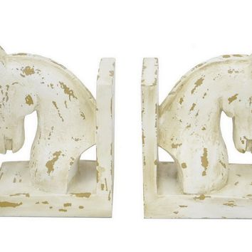 Extraordinary Set Of 2 Horse Head Bookend