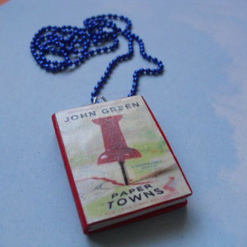 Paper Towns book necklace