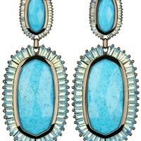 Kaki Baguette Earrings in Turquoise Magnesite - Kendra Scott Jewelry