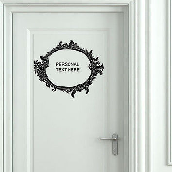 Wall Mural Vinyl Decal Sticker Sign Door Frame Personalized Text Name AL282