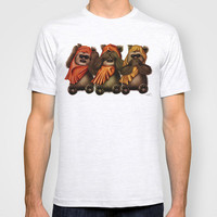 STAR WARS The Three Wise Ewoks T-shirt by Tom Brodie-Browne | Society6