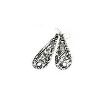 Ca D'zan Sunset Sterling Silver Teardrop Drop Earring