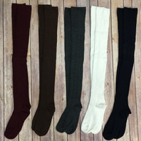 Knit Over the Knee High Boot Socks: Multiple Colors