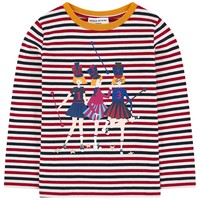 Girls Colorful Striped T-shirt with Print