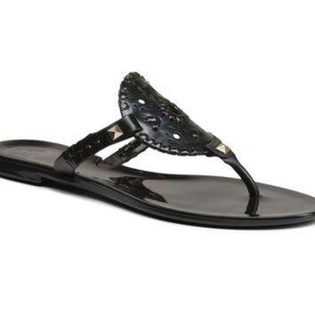 Georgica Jelly Sandal in Black by Jack Rogers