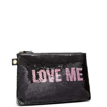 Secret Message Sequin Beauty Pouch - Victoria's Secret