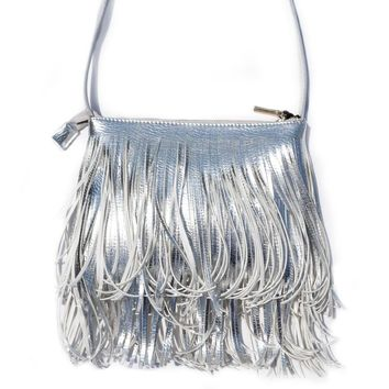 """Stella"" Vegan Leather Crossbody Fringe Hippie Purse"