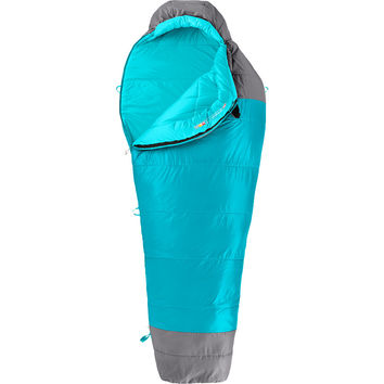 The North Face Cat's Meow Sleeping Bag: 20 Degree Synthetic - Women's Capri Breeze Blue/Zinc Grey,