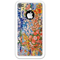 Japanese Blue Flowers iPhone Case by designdivagifts2- 582858693