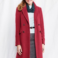 Women's Luxe Wool Double Breasted Coat from Lands' End
