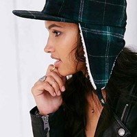 Stussy For UO Sherpa Plaid Cap- Green Multi