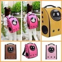 NEW 4 COLORS Astronaut Space Capsule Backpack Transparent hable Pet Travel Bag