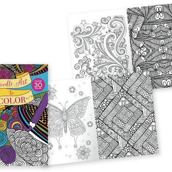 Papercraft Adult Coloring Books - Doodle Art - CASE OF 24