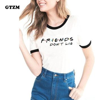 GTZM 2018 Summer Stranger Things Tshirt Women Friends Don't Lie T-shirts Printing Bts Funny Tee Shirt For Female Top Clothes
