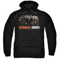 CRIMINAL MINDS/THE BRAIN TRUST-ADULT PULL-OVER HOODIE-BLACK