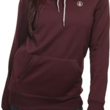 Volcom Toller Pullover Tech Hoodie - burgundy - Snowboard Shop > Women's Snowboard Outerwear > Women's Tech Apparel > Women's Tech Hoodies