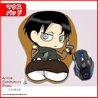 New Levi Ackerman - Attack on Titan Anime Ergonomic 3D Mouse Pad Sexy Butt Wrist Rest Oppai GZFONG MP1