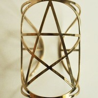 Pamela Love Mini Pentagram Cuff Brass
