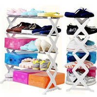 Popular 5 Tier 12 Pair Stackable Shoe Rack Storage Organizer Space Saving Shelf Closet