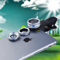 3 in 1 camera lens Kit universal Clip-On 180 Fisheye lens 10X Macro lens 0.65X Wide angle Lens for iPhone
