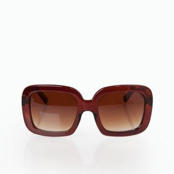 Oversized Uptown Sunglasses in Java- ShopSosie.com