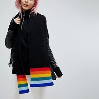 E.L.K Knitted Scarf With Rainbow Detail at asos.com