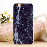 Black Marble Stone Protect iPhone 5s 6 6s Plus Case + Gift Box-131