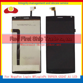 "High Quality 5.5"" For MegaFon Login MFLoginPh TOPSUN_G5247_A1 Full Lcd Display Touch Screen Digitizer Assembly Complete Sensor"