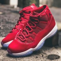 "Air Jordan 11 Retro Gym Red ""Chicago"" ""Win Like 96"" 2017 - Best Deal Online"