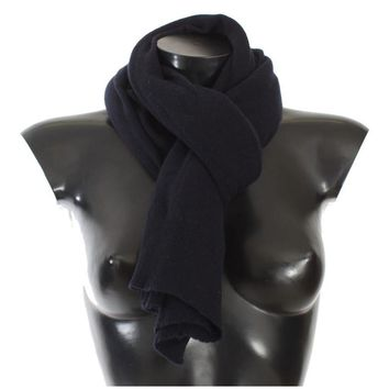 Dolce & Gabbana Blue Cashmere Knitted Scarf